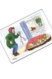 Alison's Animals Fridge Magnet - Don't Do Rain