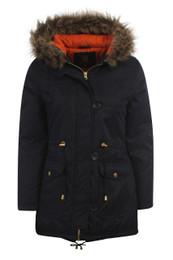 Kids Navy Parka Jacket