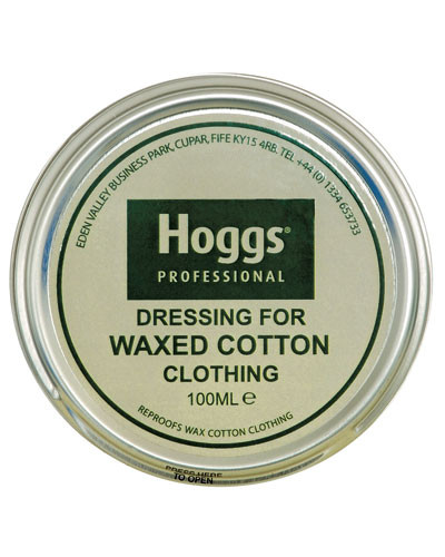 Waxed cotton dressing