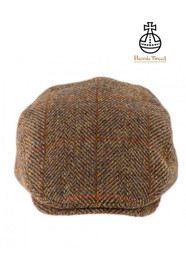 Harris Tweed Flat Cap - Gold