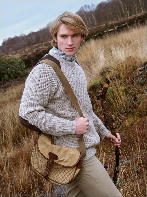 Aran woollen fishermans rib sweater for Aran crafts fisherman sweater