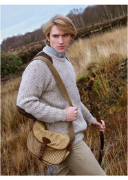 Aran Craft Wool Fishermans Jumper - Oatmeal