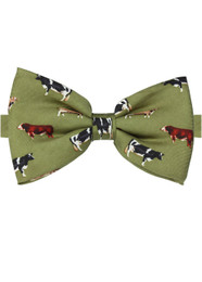Country Cows Silk Bow Tie Gift Idea