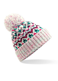 Blizzard pom pom beanie hat
