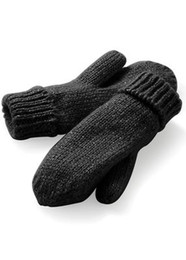Knitted ribbed mitten