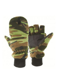 Highlander Camo Fleece Hunting Mitts