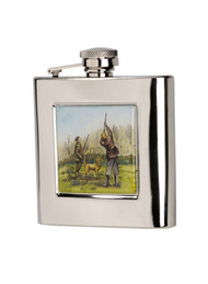 6 oz Stainless Steel Hip Flask with Standing Shooter