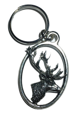 Stag's Head Keyring