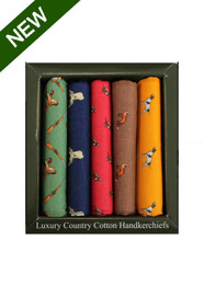 Boxed Country Themed Handkerchiefs (Pack 5)