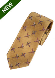 Silk Tie Gold Pheasants