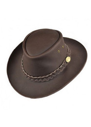 Leather Aussie Style Hat