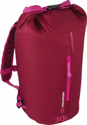 Rockhopper Roll Top Daypack - Burgundy/Pink