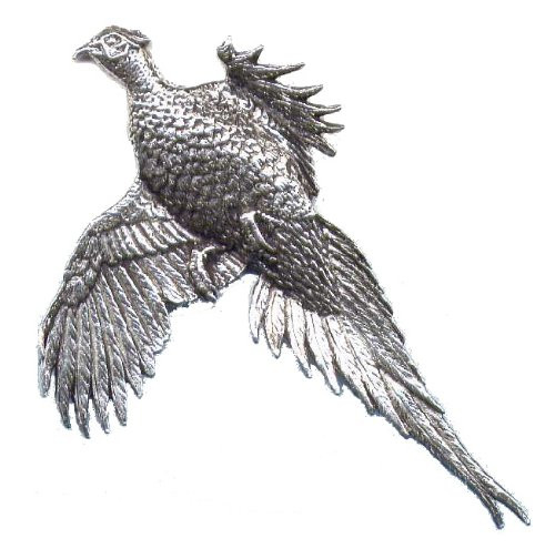 pewter pin flying pheasant