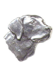 Labrador Head Pewter Pin