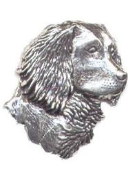 Spaniel Head Pewter Pin
