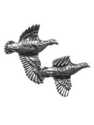 Flying Partridge Pewter Pin