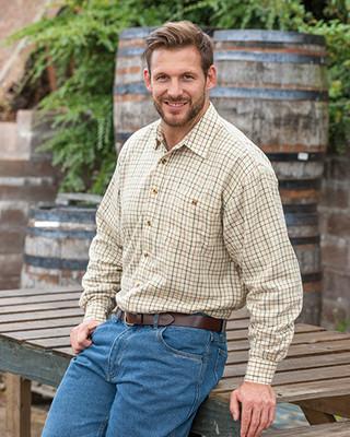 Hoggs of Fife Birch Micro-Fleece Lined Shirt