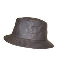 Hoggs of Fife Wax Bush Hat - Brown