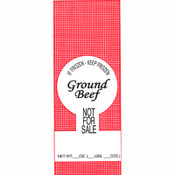 "1lb. Ground Beef Meat Bags 1000ea. - Beef ""Not For Sale"""