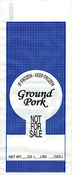 "1lb. Ground Pork Meat Bags 1000ea. - Pork ""Not For Sale"""
