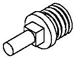 Hobart H507 - Worm Feed Screw Stud - Hobart 4612,4812