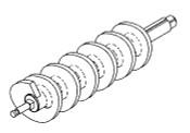 Biro B616A FeedScrew (Worm) Assembly 812