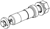 Butcher Boy B12,B14,B16,SA16, & SA20 - Upper Wheel Shaft - BB019-7