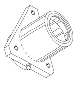 Butcher Boy Lower Main Bearing Housing w/Grease Fitting - BB124