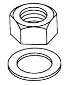 Butcher Boy B12,B14,B16 & SA16 - Gauge Plate Nuts & Lock Washer (4/Pkg) - BB069