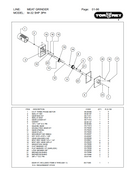 TorRey M-32 5HP - Meat Grinder Parts List