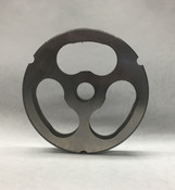 #52 Meat Grinder Plate with Kidney Shaped Holes - 3 Holes