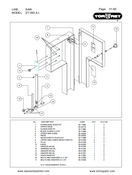 TorRey ST-295AI Meat Bandsaw Parts List