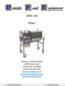 DanielsFood DMX 100 Mixer  Parts - Parts List