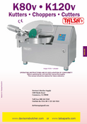 Talsa K120v Bowl Chopper Manual & Parts List