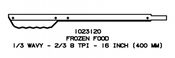 16'' Frozen Food Replacement Blade for Jarvis Wellsaw 400, 404, 420, 424, 444 - 1023120