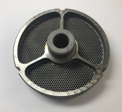 "#52 Meat Grinder Plate with 5/64'' Holes - ""Hub Plate"""