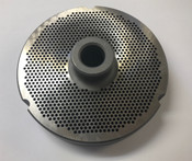 "#52 Meat Grinder Plate with 3/32'' Holes - ""Hub Plate"""