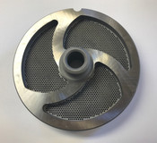 "#56 Meat Grinder Plate with 1/16'' Holes - ""Hub Plate"""