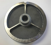 "#56 Meat Grinder Plate with 5/64'' Holes - ""Hub Plate"""