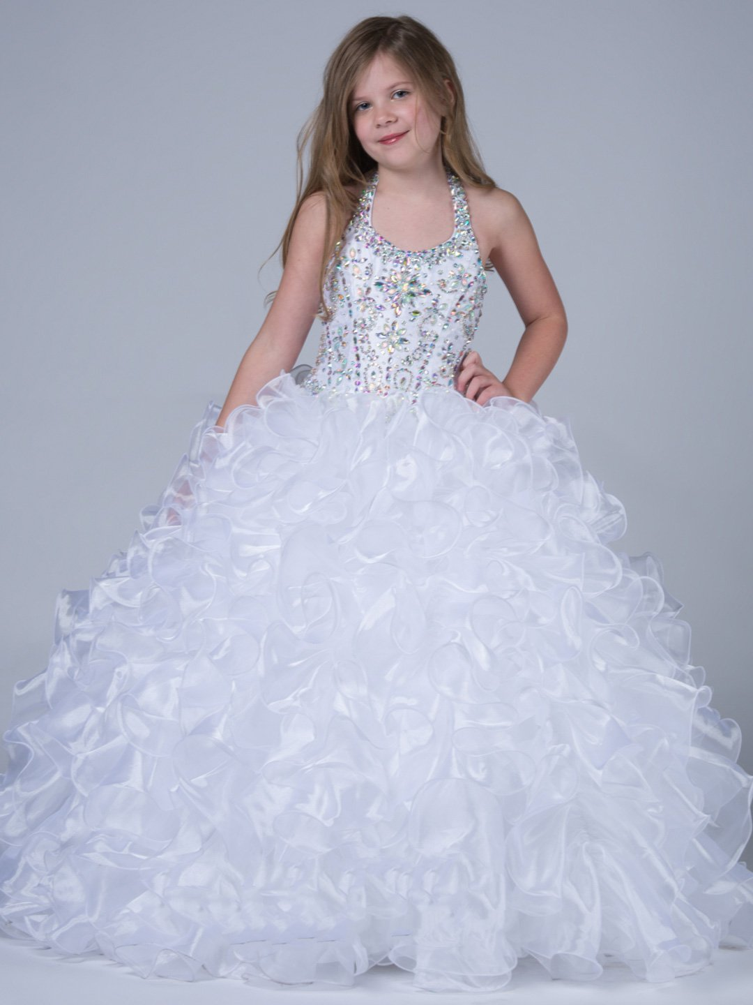 White pageant dress