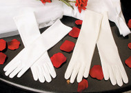 Wedding Flower Girl Gloves | Elbow Length Satin Gloves For Girls