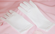 Kids 1st Communion Gloves | Wedding Flower Girl Gloves