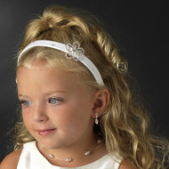 Flower Girl Headband | First Communion Swarovski Head Band