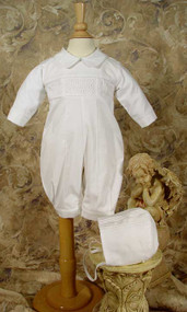 Little Things Mean A Lot Hand Smocked Christening Suit - LTMCB9381L-2