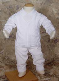 Little Things Mean A Lot Boys Cotton One Piece Knit Suit - LTMCKNIT2L-2