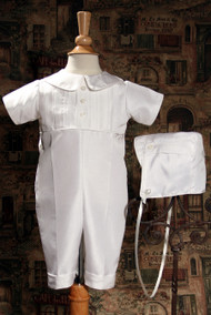 Little Things Mean A Lot Pintucked Silk Shantung Coverall - LTMSKB401S