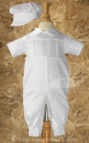 Little Things Mean A Lot Sateen Christening Coverall - LTMCB1451S-2