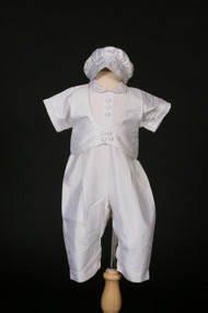 Sweetie Pie Christening Suit - Boys Christening Suit - NATURAL SILK - SWCI348B