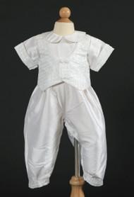 Sweetie Pie I357B | Silk Christening Gown