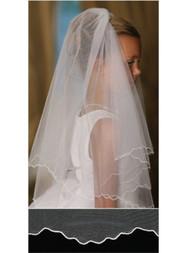 White Communion Veil   Girls Ivory First Communion Veil